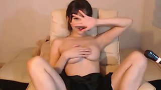 Breasty korean bj massage her large melons