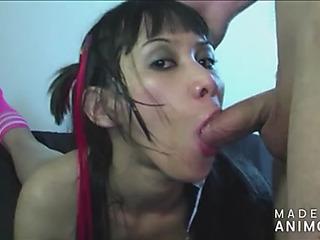 Cyreel a.k.a.threatening miako chink cum eating slut