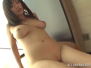 Yua kuramochi is screwed hard in advance of her mouth's filled by cum