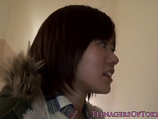 Cocksucking japanese legal age teenager screwed from behind