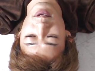 Aki Anzai receives sextoys on tongue and slit