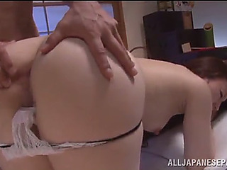 Coarse anal sex with a breasty oriental honey