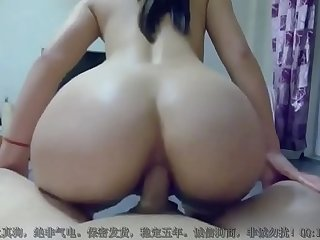 Chinese mixed loli offers her ass up