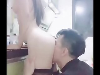 Chinese Camgirl Duola Kitchen Sex