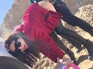 Fuck little Chinese girlfriend in public  www.imlivefreecams.com