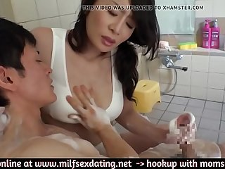 Japanese stepmother in hot pants loves to fuck your dick  WWW.MILFSEXDATING.NET