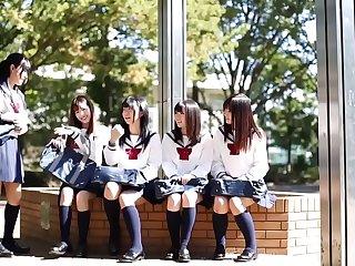 Tiny Japanese Schoolgirls Get Fucked At School
