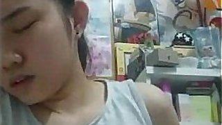 korean high school girl mastrubating in her room
