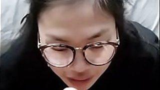 Cute Korean teen bj and facial cumshot