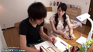Jav personal teacher takes care of college student
