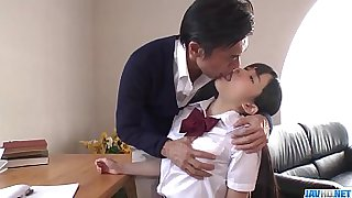 Hot japan girl Yui Kasugano in beautiful school porn scene