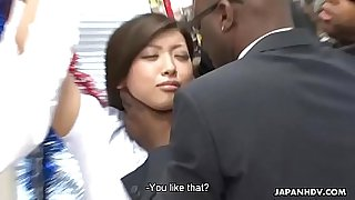Black dudes finger fuck and toy fuck the bitch