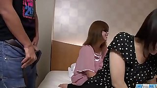 Hot japan girl Ria in group sex scene