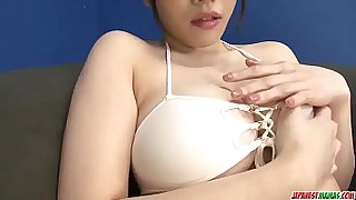 Hot japan girl Azusa Nagasawa excellent sex toy play in pretty video