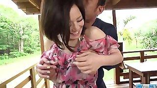Hot japan girl Minami Asano in beautiful outdoor porn video