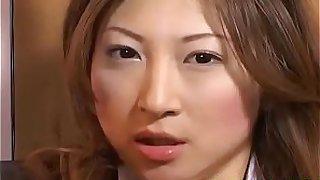 Hot japan girl Chihiro Hara play with pussy