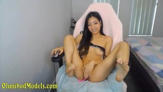 Hot Asian Thai Babe Fingering Herself on Cam