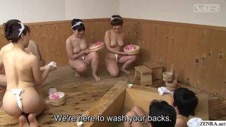 JAV big breast bathhouse companions Reiko Nakamori Subtitles